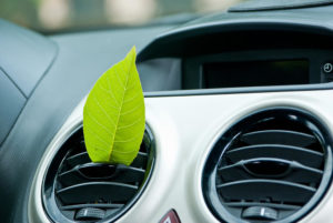 air vents with green leaf infront