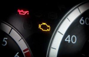 Dashboard warning light is on