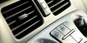 close up of car ac vent